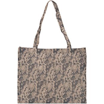 Large Camo Economy Tote Bag