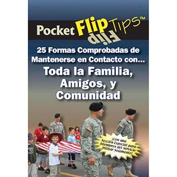Pocket Flip Tip Book: (10 pack) 25 Proven Ways to Stay Connected with Extended Family, Friends, and Community   Spanish