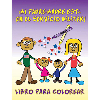 Yellow Ribbon Coloring Book: (50 Pack) My Parent is in the Military!   Spanish