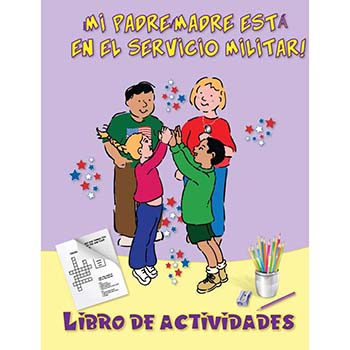 Yellow Ribbon Activity Book: (50 Pack) My Parent is in the Military!   Spanish